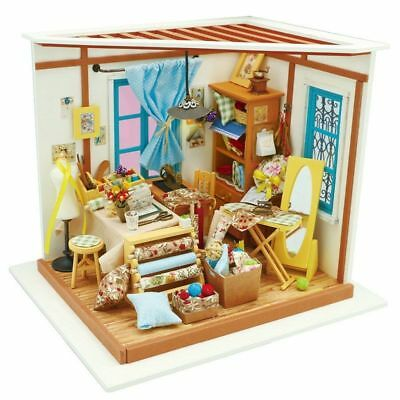 Dollhouse Diy Miniature Wooden Furniture Children Lisa Tailor Robotime Toys