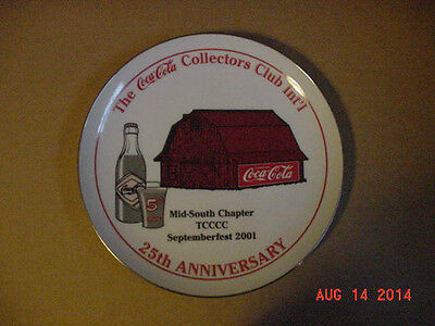 2001 Coca-Cola Plate Mid-South 25th Anniversary Chap Convention