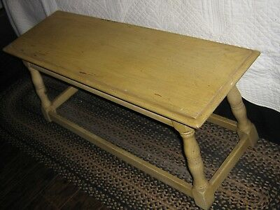 Antique Cushman Colonial Creations - RARE Pickled Oak Dining/Window Bench