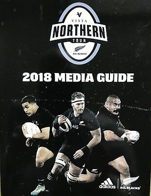 New Zealand All Blacks Rugby Northern Tour 2018 Media Guide