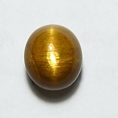 2.60 Cts 100%Natural Salmon Cat's Eye Sunstone Oval Cabochon Loose Gemstone
