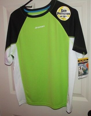 Boys ZeroXposure Surf Top Rashguard~Size Lg(14/16) Lime Green~UPF 50+ NWT
