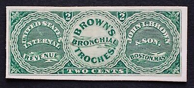 RS40P3 2c John I. Brown & Son Proof US Revenue Medicine Private Die Proprietary