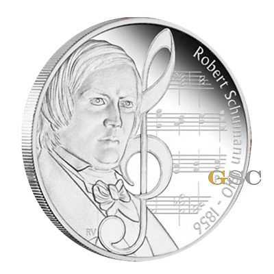 Tuvalu 2010 1$ Robert Schumann Famous Composers 1oz .999 fine silver coin