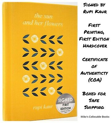 **SIGNED 1/1** The Sun and Her Flowers Rupi Kaur (Milk and Honey) Hardcover