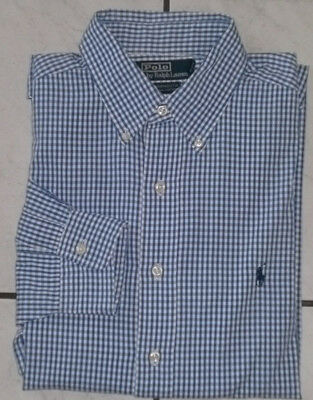POLO by Ralph Lauren Yarmouth 100% Cotton Langarm Hemd kariert XXL 16 1 2 40081b0443