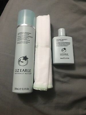 Liz Earle Cleanse and Polish Hot Cloth Cleanser and Instant Boost Skin Tonic