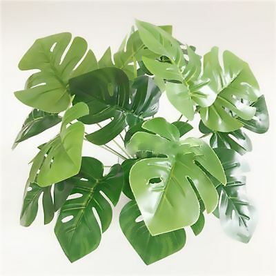 Plastic Green Autumn Garden Potted Plant Fake Turtle Leaves Grass Home Decor