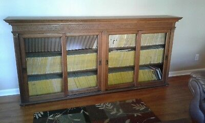Antique Bookcase/Cabinet w/glass doors & detailed woodwork