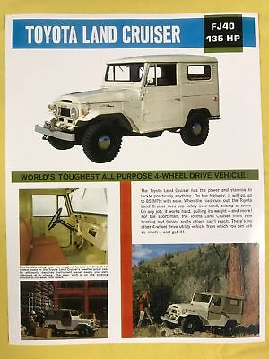 Toyota FJ40 Land Cruiser 1963 1964 1965 1966 Specifications Ribbed Top Brochure