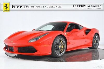 2018 Ferrari 488 GTB Certified CPO Carbon Fiber LED Full Electric Seats Shields Camera Sensors 20 Forged Stitching