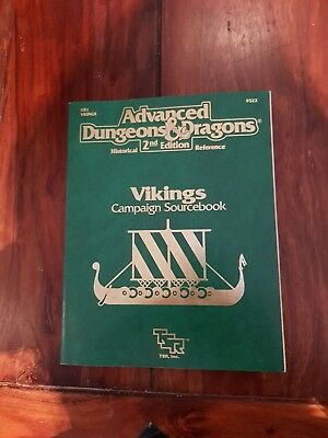 AD&D VIKINGS CAMPAIGN SOURCEBOOK TSR Historical Reference 9322 HR1 with map