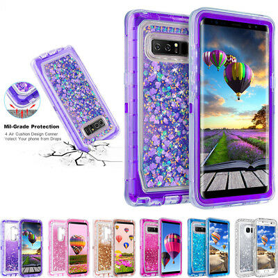 For Samsung Galaxy S8/ S8 Plus Shockproof Glitter Quicksand Liquid Case Cover