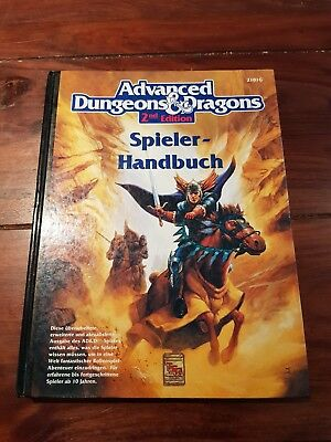 AD&D SPIELER HANDBUCH ☆ Note 2 ☆ 2nd Edition  Advanced Dungeons & Dragons TSR