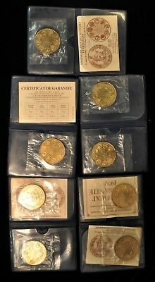 Lot of (8) French Europa ECU Uncirculated Bronze Coins. ITEM Y31