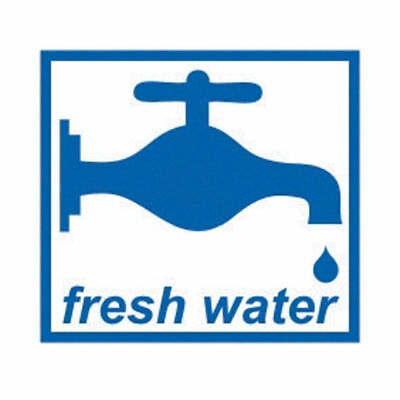 Motorhome Caravan Water Label Fresh or Waste Water Sticker Decal Graphic