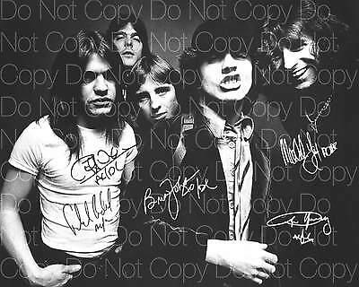 AC/DC Rock Band Angus Young x5 8X10 photo picture signed autograph RP 3
