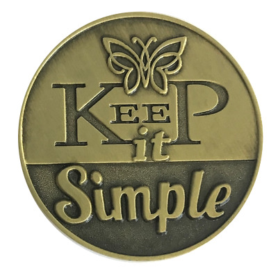 Keep It Simple bronze AA/NA recovery coin medallion token chip