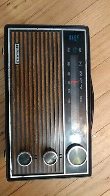 Awesome Vintage Midland Am/fm Portable Radio Solid State 10-441 Woodgrain Retro