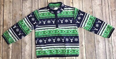 """Gymboree Boys """"Deer and Snowflake"""" Long Sleeve Sweater 2T-3T"""