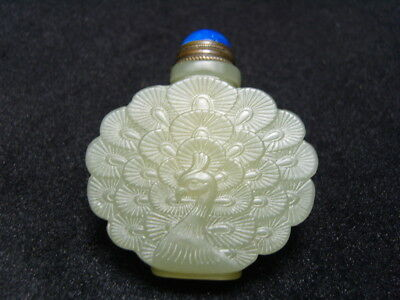 Chinese Exquisite Hand-carved  jade snuff bottle- See Video   17