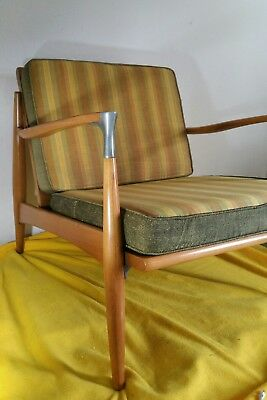 Vtg. SET - Mid Century Mod Lounge Chair and Ottoman Home Chair HC Co. Ronda N.C.