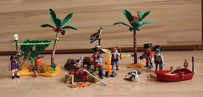 playmobil Piraten Konvolut Schiffsbrüchiger 5138 Pirateninsel Piratenlagune 4156