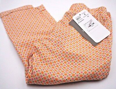 New**Mayoral Chic Size 2T (92cm) Pants Orange Pink Camelia Trendy Preppy Hipster