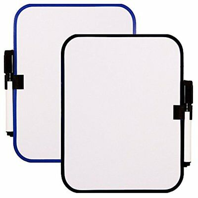"""White Board Set with Magnet Strips -- 6-1/2"""" x 8-1/4"""" (2 Pack)"""
