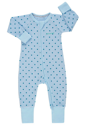 BONDS Zip Terry Wondersuit Blue Dotty NEW 3-6, 6-12 months Unisex