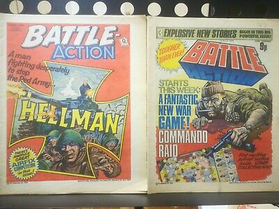 Battle Picture Weekly 10 issues between 167 and 189