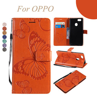 Case for OPPO F5/A73/F1s/A59/A83 3D Butterfly PU Leather Wallet Flip Stand Cover