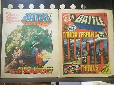 Battle Picture Weekly 10 issues between 190 and 201