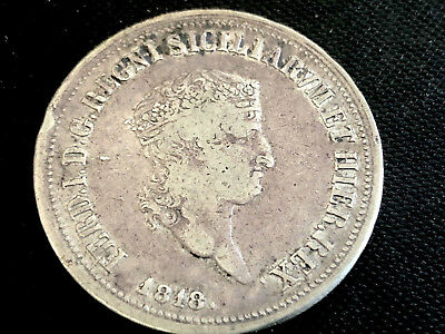 Italian States Kingdom of Naples 120 Grana 1818 Silver