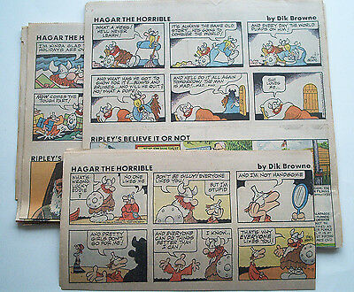1980 Jhg. Hägar the Horrible & Peanuts 50 Sunday Pages Newspaper Comics Hagar