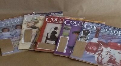 Lot-Antique Trader's Collector Magazines Price Guide Advertising Values Set Of 5