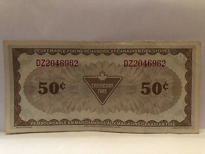 1985 Canadian 50 Cents banknote # DZ2046962