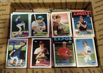 Garage sale lot of 4000 baseball cards 70's,80's,90's maybe rookies, stars -c