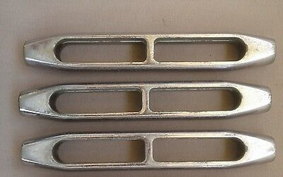 3 Gibb/Navtec Open Body Turnbuckle 5/8-18 Chrome Plated Bronze, previously used.