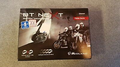 Midland BT Next Twin Pack Multi Rider Intercom System Bluetooth 2.0 Headset Bike