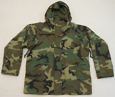 U.S. Army Woodland Camouflage Gore-Tex Parka Large Reg 1996 Excellent Condition