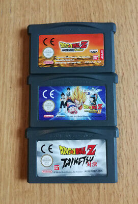Nintendo lot de 3 jeux dbz Game boy advance GBA FRA