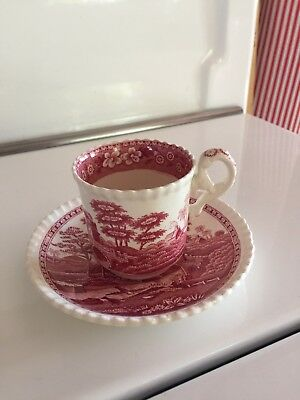 Spode China PINK TOWER Demitasse Sets Old Marks