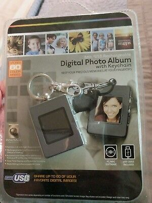 Digital Photo Album With Keychain--Nip--Usb Rechargeable.