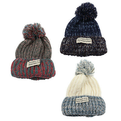 05303b61768c77 Men Lady Winter Warm Ski Snowboard Cap Soft Cable Knitted Pom Pom Beanie Hat