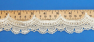 9 yd.Affordable White Venice Venise Lace Edge Trim Baby Doll Scrapbooking 1645a
