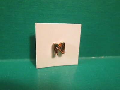 """Vintage Richard M. Nixon Gold Plated """"N"""" President Political Campaign Pin"""