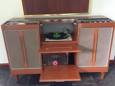 Mid Century Philips Glidomatic Stereo Radiogram/record Player