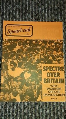 spearhead magazine no 81 feb 1975 john tyndall bnp nf good condition for age