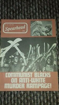 spearhead magazine no 118 june 1978 john tyndall bnp nf good condition for age